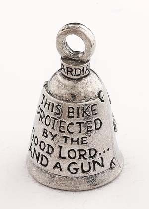 This Bike Protected by the Good Lord and a Gun