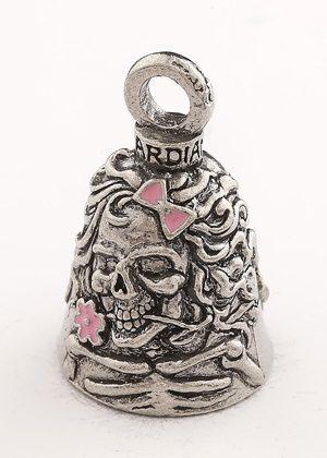 Lady Skull Pink Enamel